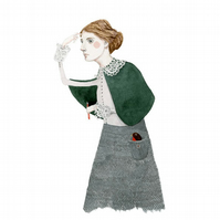 Virginia Woolf giclee A4 print