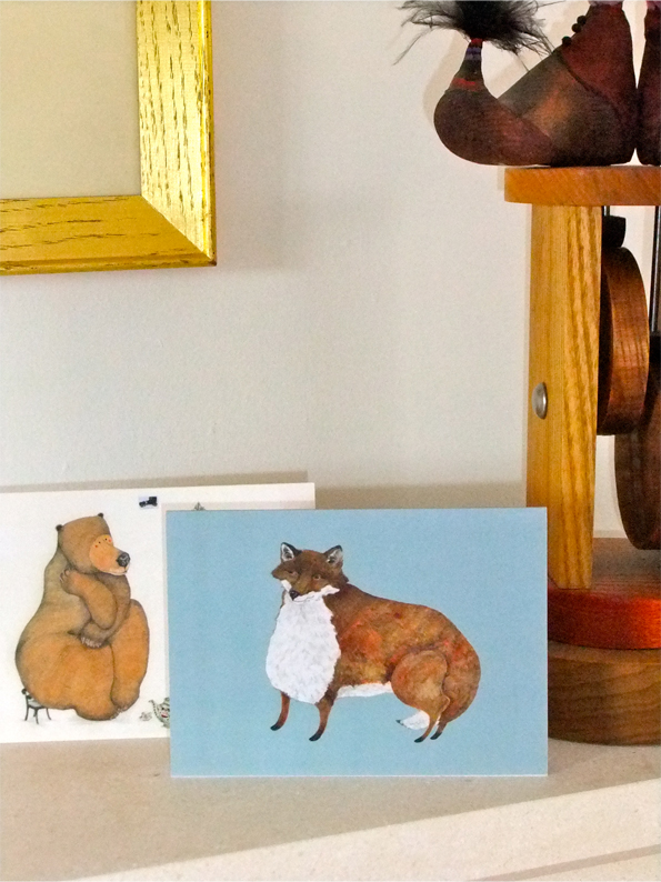 Greeting cards Fox and Bear Glossy blank cards