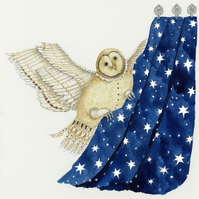 Night Owl A4 Giclee print of illustration of Barn Owl