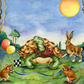 The Hare and the Tortoise Original Painting Aesop's Fable