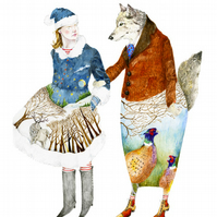 Wolf Boyfriend No 2 decorative giclee print