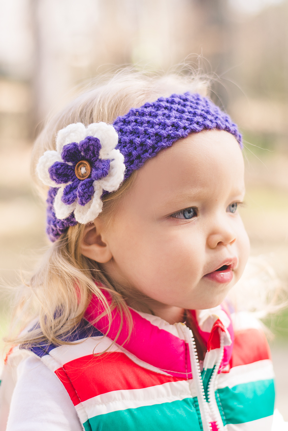 Girls Knitted Flower Headband, Made to order in any size, Other Colors