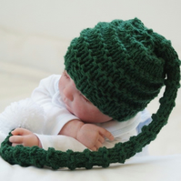 NB Baby Boys Chunky Knit Hat Elf Photo Prop Hat