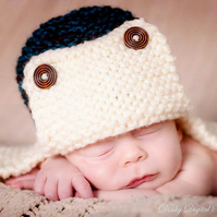 0 - 3 Boys kids Hat Knit hat  Aviator Trapper hat hat lumberjack hat  Photo Prop