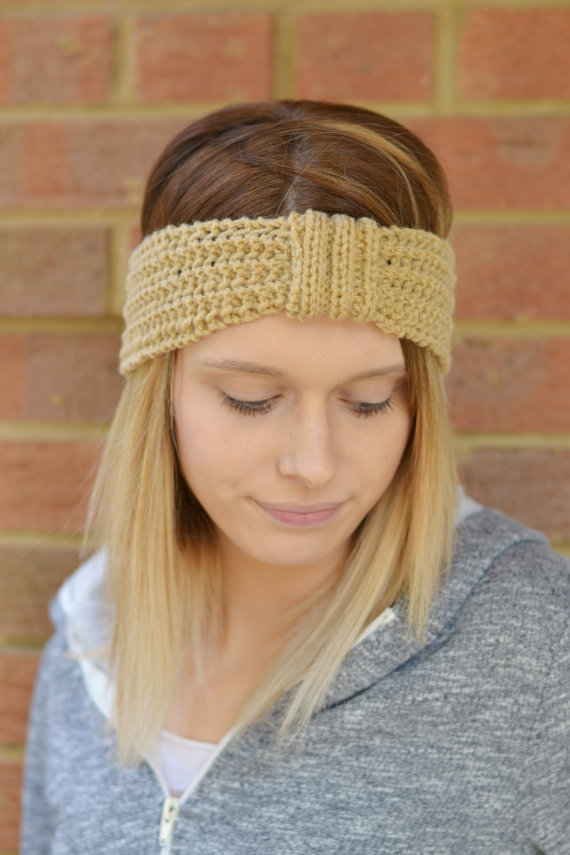Knitted Turban Style Headband  Earwarmer