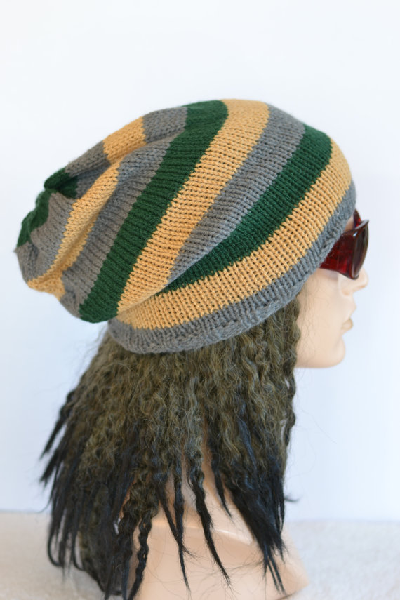 Mens Slouch Hat Dread Hat Slouchy Beanie Tam Folksy