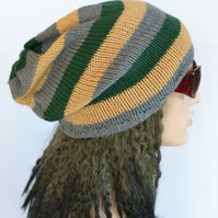 Mens Slouch Hat, Dread Hat, Slouchy Beanie, Tam, Large Size