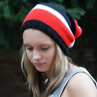 Slouch, Mens, Womens Knitted Slouchy Beanie, Hat, Vegan, Unisex Slouch, Skater,