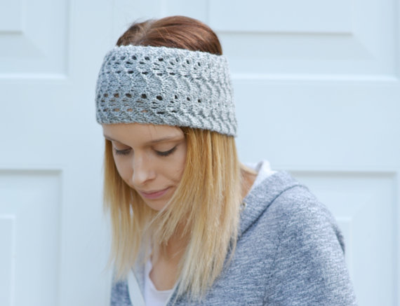 Double Knitting Headband Pattern : PDF PATTERN Lacey UK Pattern Double Knitting Kn... - Folksy
