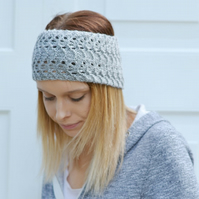 PDF PATTERN Lacey UK Pattern Double Knitting Knitted Headband
