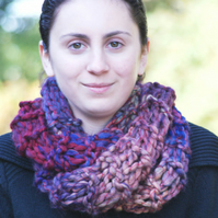 Knitted Chunky Cowl Neckwarmer Scarf