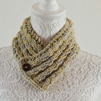 Unisex Neck Warmer Scarf Cowl Chunky Cable Knit Uk Age 2T- 3T