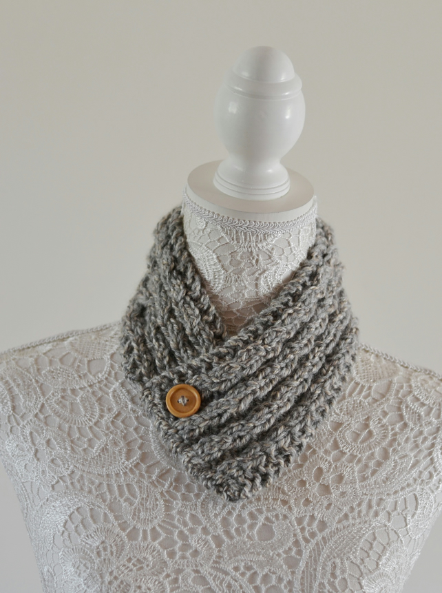 Unisex Neck Warmer Scarf Cowl Chunky Cable Knit Uk Age 1T- 2T