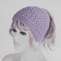 Lilac PonyTail Hat, Tube Hat, Jogging, KeepFit Yoga Headband