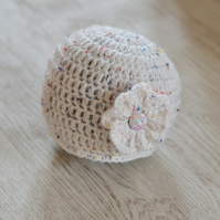 SALE Newborn Crochet Flower Hat, BabyShower  Gift,