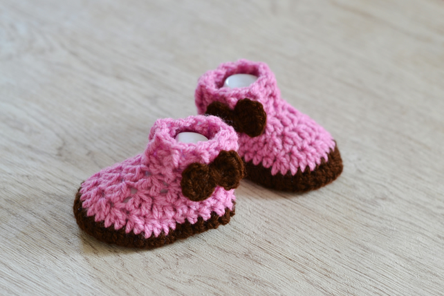 New Baby Announcement Shoes, Baby girls boots, Newborn Booties
