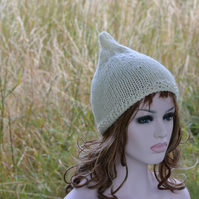 Cream Chunky Knit  Pixie Festival Hat