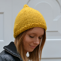 Womens Mustard Pixie, Hats Chunky Knit