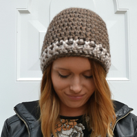 24 Colours,Super Chunky Brown Chunky  Beanie Hat
