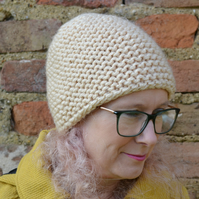 Womens Knitted Super Chunky Beanie Hat