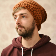 23 Colours , Mens Womens Super Chunky Knitted Slouch Beanie Hat