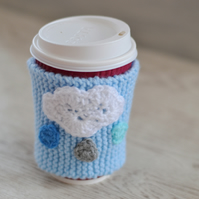 Coffee Cup Cloud Hug Cozy, Mug Cozy,