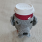 Grey Labrador Coffee Cozy,  Beer Cozy,  Can Cosie, Other Dogs Made to Order