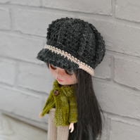 Dolls Charcoal NewsBoy Hat,  Baker Boy