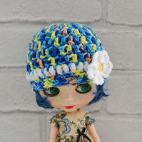 Dolls Flower Beanie Hat