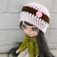 Dolls Flower Beanie Button Hat