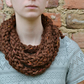 ChestNut Brown Super Chunky Rope Scarf Cowl Neck warmer