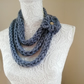 Womens Super Chunky Finger Knitted Necklace Scarf
