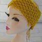 Mustard Knitted Headband Ear, Adult Warmer Chunky Knit Hairband