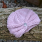 Baby Girls Turban Style Hat, Knitted Winter Hat, Newborn Beanie Hat, Baby Gift