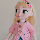 "16"" Dolls Pale Pink Knitted Cardigan"