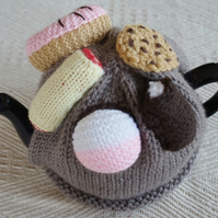 Hand Knitted Cakes TeaCosy