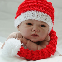 Knitted Newborn Xmas Photo Prop Hat