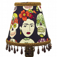 Frida Kahlo Sugar Skull Candle or Chandelier Lampshade