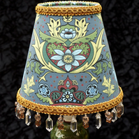 Marvellous William Morris Style Candle Lamp or Chandelier Shade