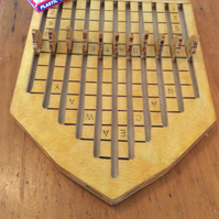 Hand crafted wooden 'RACEAWAY' horse racing game.