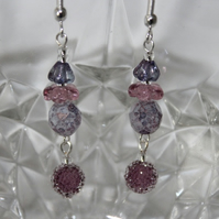 Shades of Lilac Earrings
