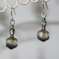 'Seaspray' beaded earrings
