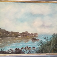 Guernsey Scenes Moulin Huet Beach Impression Oil Painting