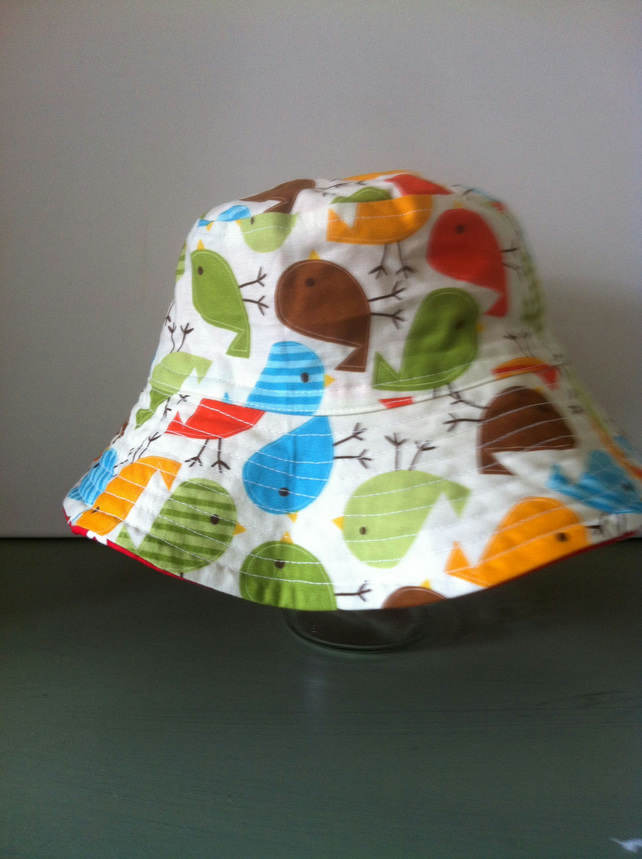 Boys Reversible Bucket Style Sun Hat age 5-8 years