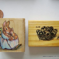 Easter Wood mounted Rubber stamps - Destash