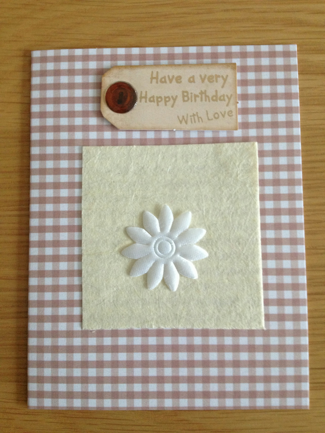 Have a Very Happy Birthday with love Hand Crafted card (SALE)