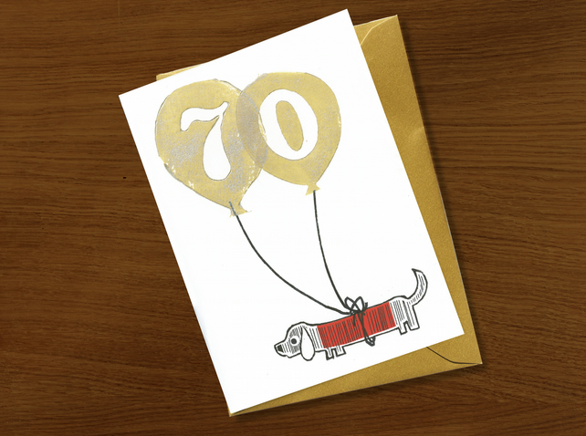 70th birthday card, birthday card for 70 year old, milestone celebrations