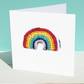 Sympathy card, bereavement card, sending love card, rainbow card
