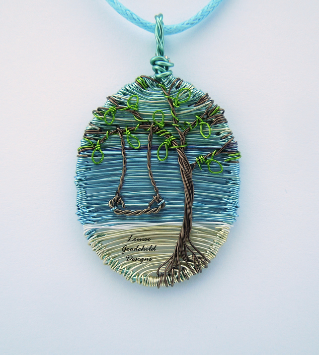 Beach necklace, wire tree necklace, nature jewellery, wire wrap, MADE TO ORDER