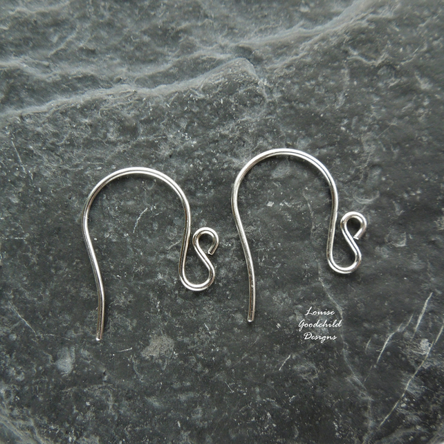 Sterling silver swan ear wires, 3 pairs, earwires, made to order, make your own